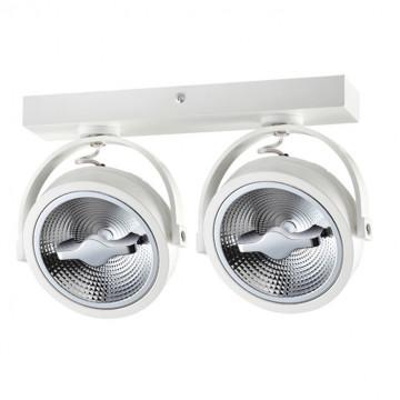 Потолочный светодиодный светильник с регулировкой направления света Novotech Over Snail 357561, LED 30W 3000K 1650lm, белый, металл