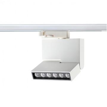 Светодиодный светильник с регулировкой направления света для шинной системы Novotech Port Eos 357539, LED 6W 3000K 492lm, белый, белый с черным, металл