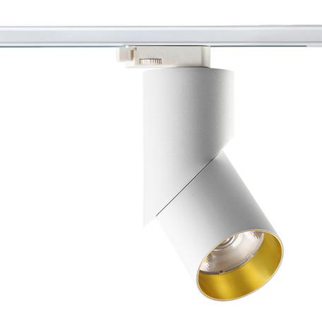 Светодиодный светильник с регулировкой направления света для шинной системы Novotech Port Union 357541, LED 23W 3000K 2000lm, белый, металл