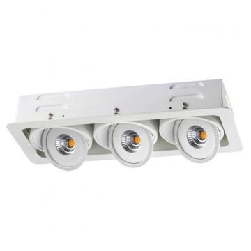 Встраиваемый светодиодный светильник Novotech Gesso 357579, LED 21W 3000K (теплый), белый, металл