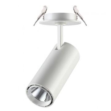 Встраиваемый светодиодный светильник с регулировкой направления света Novotech Selene 357548, LED 15W 4000K (дневной), белый, металл
