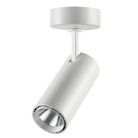 Потолочный светодиодный светильник с регулировкой направления света Novotech Over Selene 357549, LED 15W 4000K 970lm, белый, металл