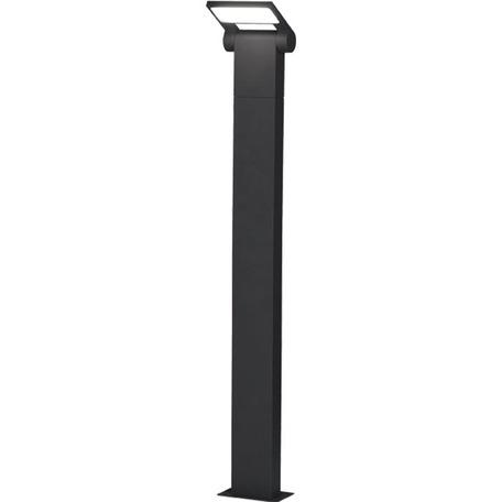 Уличный светодиодный фонарь Novotech Street Roca 357522, IP54, LED 10W 3000K 600lm, темно-серый, металл, металл с пластиком