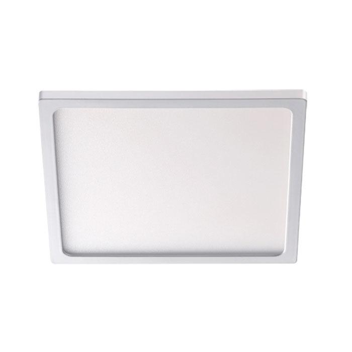 Встраиваемая светодиодная панель Novotech Stea 357486, LED 8W 3000K 600lm, белый, металл с пластиком, пластик - фото 1