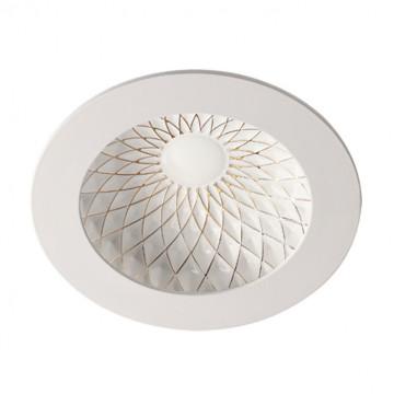 Встраиваемый светодиодный светильник Novotech Gesso 357502, LED 7W 3000K 420lm, белый, золото, металл