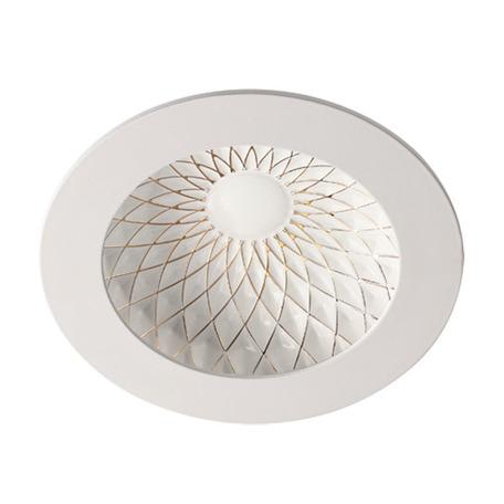 Встраиваемый светодиодный светильник Novotech Gesso 357504, 3000K (теплый), белый, золото, металл
