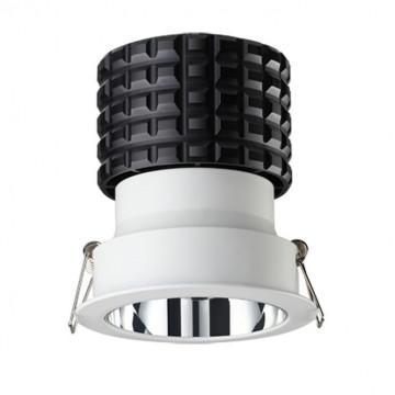 Встраиваемый светодиодный светильник Novotech Turbine 357564 3000K (теплый), белый, металл