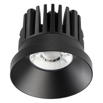 Встраиваемый светодиодный светильник Novotech Metis 357586, IP44 3000K (теплый), черный, металл