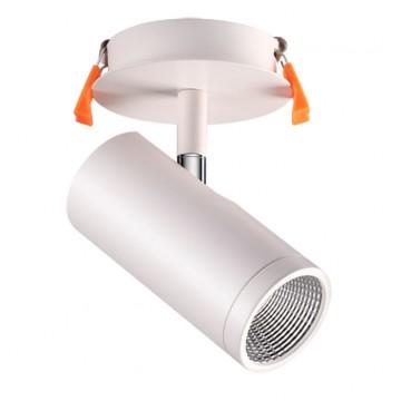 Встраиваемый светодиодный светильник с регулировкой направления света Novotech Solo 357460 3000K (теплый), белый, хром, металл