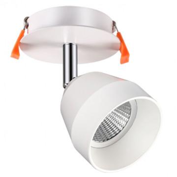 Встраиваемый светодиодный светильник с регулировкой направления света Novotech Spot Solo 357453, LED 10W 3000K 850lm, белый, металл