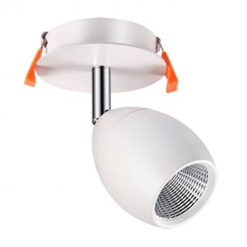 Встраиваемый светодиодный светильник с регулировкой направления света Novotech Spot Solo 357456, LED 10W 3000K 850lm, белый, металл