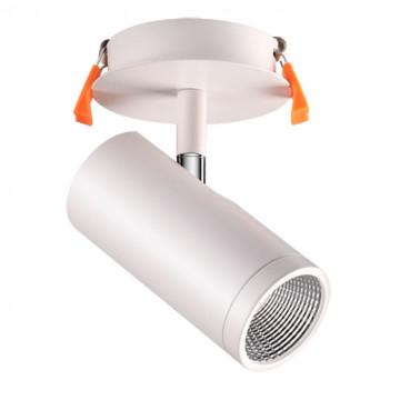 Встраиваемый светодиодный светильник с регулировкой направления света Novotech Spot Solo 357460, LED 10W 3000K 850lm, белый, металл
