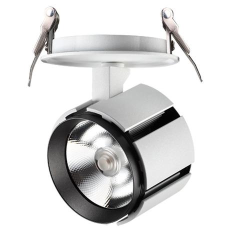 Встраиваемый светодиодный светильник с регулировкой направления света Novotech Spot Kulle 357536, LED 15W 3000K 1460lm, белый, белый с черным, металл