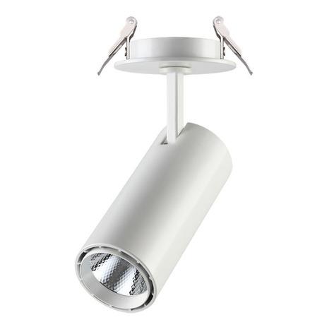 Встраиваемый светодиодный светильник с регулировкой направления света Novotech Spot Selene 357548, LED 15W 4000K 970lm, белый, металл