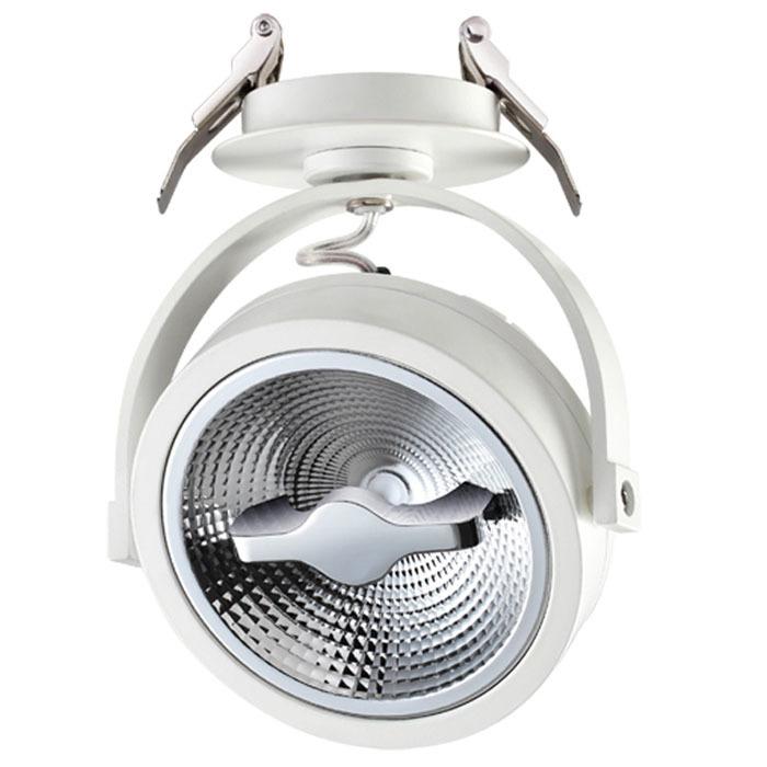 Встраиваемый светодиодный светильник с регулировкой направления света Novotech Spot Snail 357565, LED 15W 3000K 825lm, белый, металл - фото 1