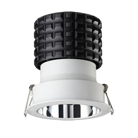 Встраиваемый светодиодный светильник Novotech Spot Turbine 357564, LED 10W 3000K 700lm, белый, металл