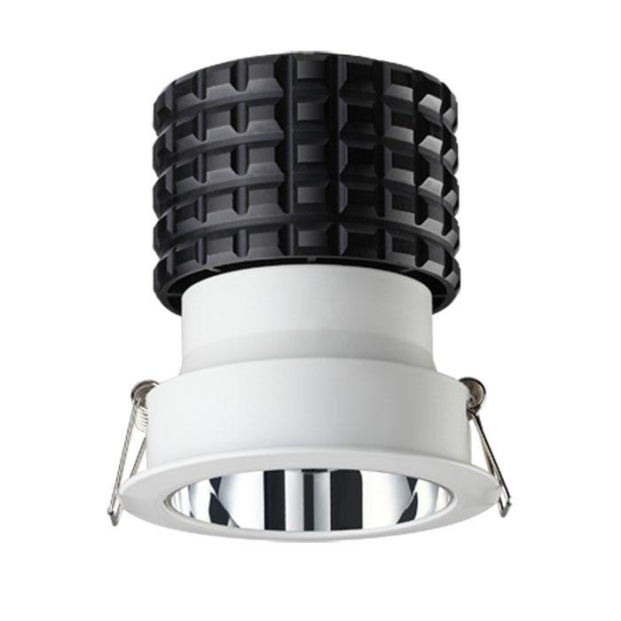 Встраиваемый светодиодный светильник Novotech Spot Turbine 357564, LED 10W 3000K 700lm, белый, металл - фото 1