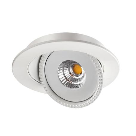 Встраиваемый светодиодный светильник Novotech Spot Gesso 357576, LED 15W 3000K 1275lm, белый, металл