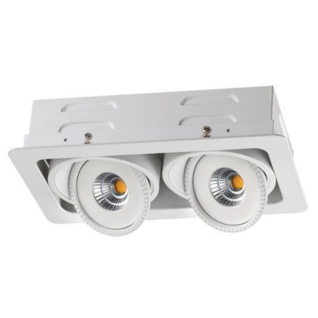 Встраиваемый светодиодный светильник Novotech Spot Gesso 357578, LED 14W 3000K 1190lm, белый, металл