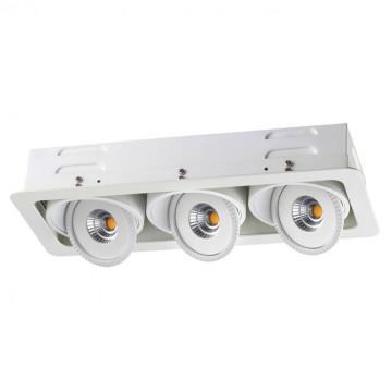 Встраиваемый светодиодный светильник Novotech Spot Gesso 357579, LED 21W 3000K 1785lm, белый, металл