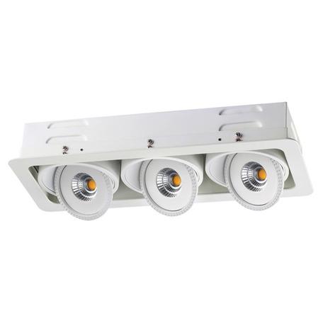 Встраиваемый светодиодный светильник Novotech Spot Gesso 357582, LED 45W 3000K 3825lm, белый, металл