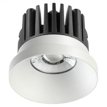 Встраиваемый светодиодный светильник Novotech Metis 357585, IP44, LED 10W 3000K 800lm, белый, металл