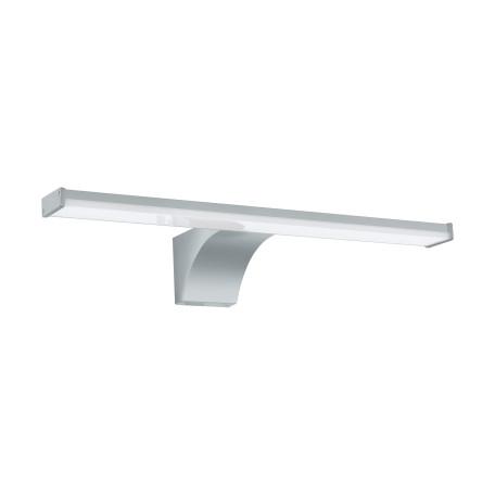 Настенный светодиодный светильник для подсветки зеркал Eglo Pandella 2 97059, IP44, LED 8W 4000K 1000lm, серебро, пластик