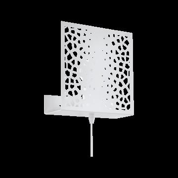 Настенный светильник Eglo Gallico 97889, 1xE27x10W, белый, металл