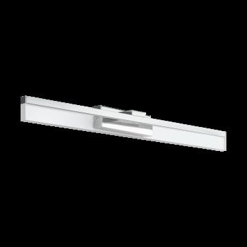 Настенный светодиодный светильник Eglo Palmital 97966, IP44, LED 10W 3000K 1300lm, хром, прозрачный, металл, металл со стеклом/пластиком, пластик