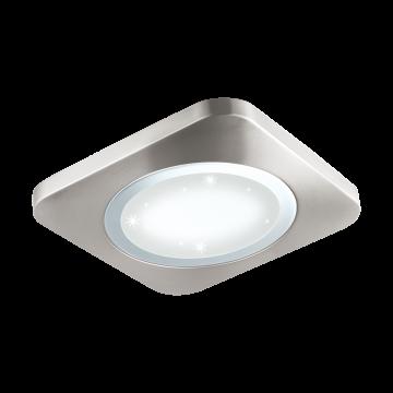 Потолочный светодиодный светильник Eglo Puyo-S 97663, LED 21W, 3000K (теплый), никель, хром, металл, пластик