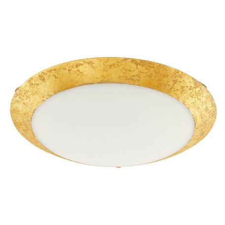 Потолочный светодиодный светильник Eglo Montenovo 98023, LED 16W 3000K 1500lm, белый, матовое золото, металл, стекло