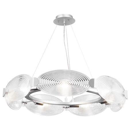 Подвесная люстра Maytoni Houston MOD022PL-07S, 7xE14x40W, серебро, прозрачный, металл, стекло