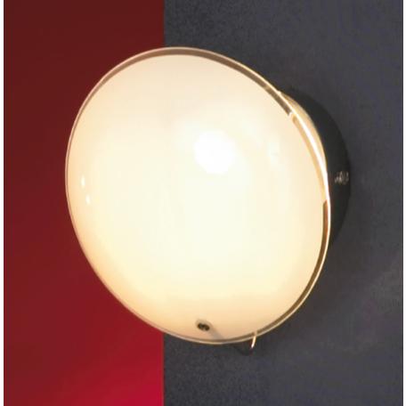Настенный светильник Lussole Loft Mattina LSQ-4301-01, IP21, 1xG9x40W, хром, белый, металл, стекло