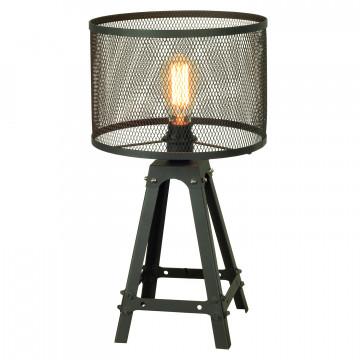 Настольная лампа Lussole Loft Parker LSP-9886, IP21, 1xE27x60W, черный, металл