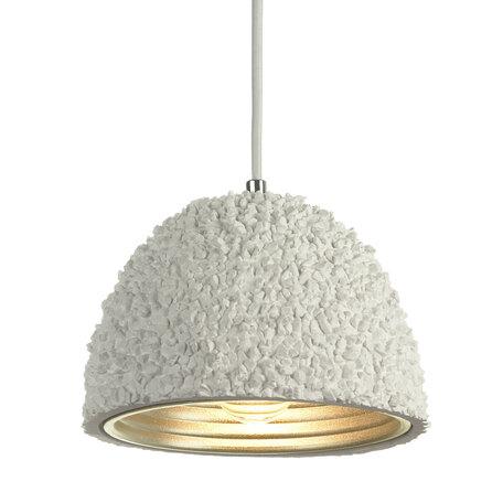 Подвесной светильник Lussole Loft Lindenhurst LSP-9857, IP21, 1xE27x60W, белый, металл, бетон