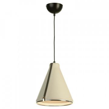 Подвесной светильник Lussole Loft Coram LSP-9865, IP21, 1xE27x60W, черный, белый, металл, кожзам - миниатюра 2
