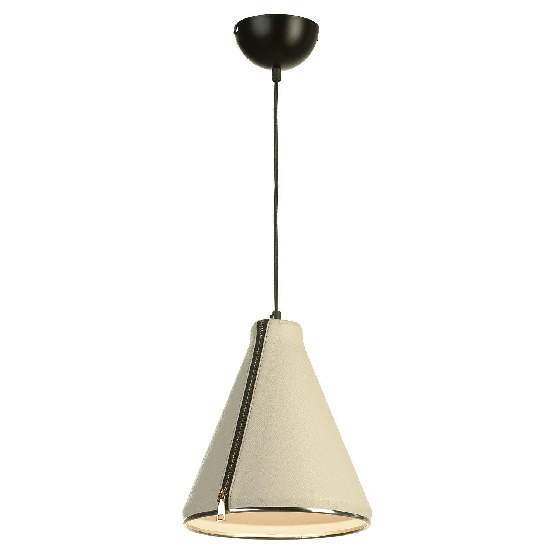 Подвесной светильник Lussole Loft Coram LSP-9865, IP21, 1xE27x60W, черный, белый, металл, кожзам - фото 2