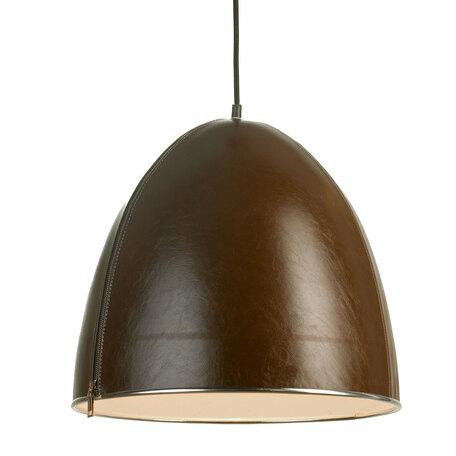 Подвесной светильник Lussole Loft Coram LSP-9866, IP21, 1xE27x60W, черный, коричневый, металл, кожзам