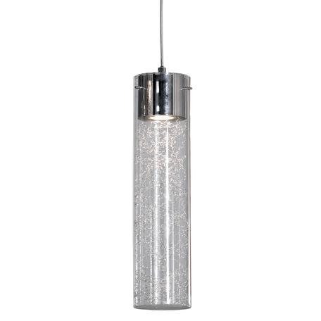 Подвесной светильник Lussole Loft West Babylon LSP-9871, IP21, 1xGU10x50W, хром, прозрачный, металл, стекло