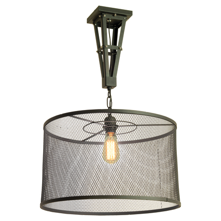 Подвесной светильник Lussole Loft Parker LSP-9885, IP21, 1xE27x60W, черный, металл