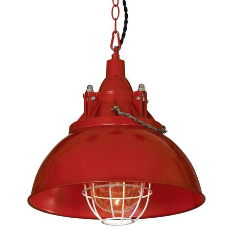Подвесной светильник Lussole Loft Elmont LSP-9895, IP21, 1xE27x60W, красный, металл