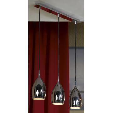 Подвесной светильник Lussole Loft Collina LSQ-0706-03, IP21, 3xE14x40W, хром, металл