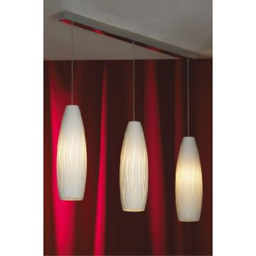Подвесной светильник Lussole Sestu LSQ-6306-03, IP21, 3xE27x60W, хром, белый, металл, стекло
