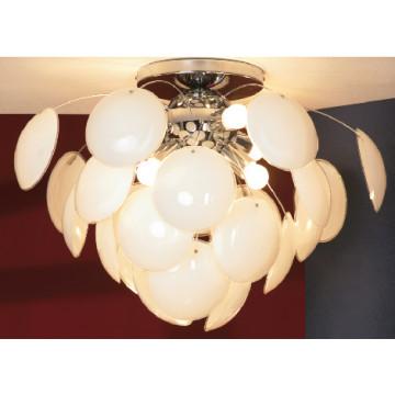 Потолочная люстра Lussole Loft Mattina LSQ-4303-06, IP21, 6xE27x60W, хром, белый, металл, стекло