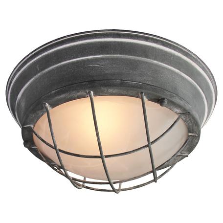 Потолочный светильник Lussole Loft Brentwood LSP-9881, IP21, 2xE27x60W, серый, металл со стеклом