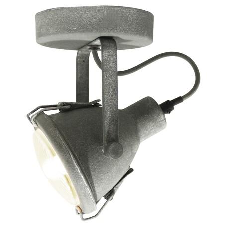 Потолочный светильник с регулировкой направления света Lussole Loft Brentwood LSP-9883, IP21, 1xE14x40W, серый, металл