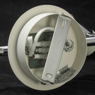 Потолочный светильник с регулировкой направления света Lussole Loft Parma LSX-5001-02, IP21, 2xE14x40W, белый, хром, металл, стекло - миниатюра 5