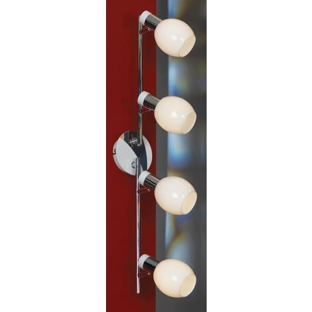 Потолочный светильник с регулировкой направления света Lussole Loft Parma LSX-5009-04, IP21, 4xE14x40W, белый, хром, металл, стекло