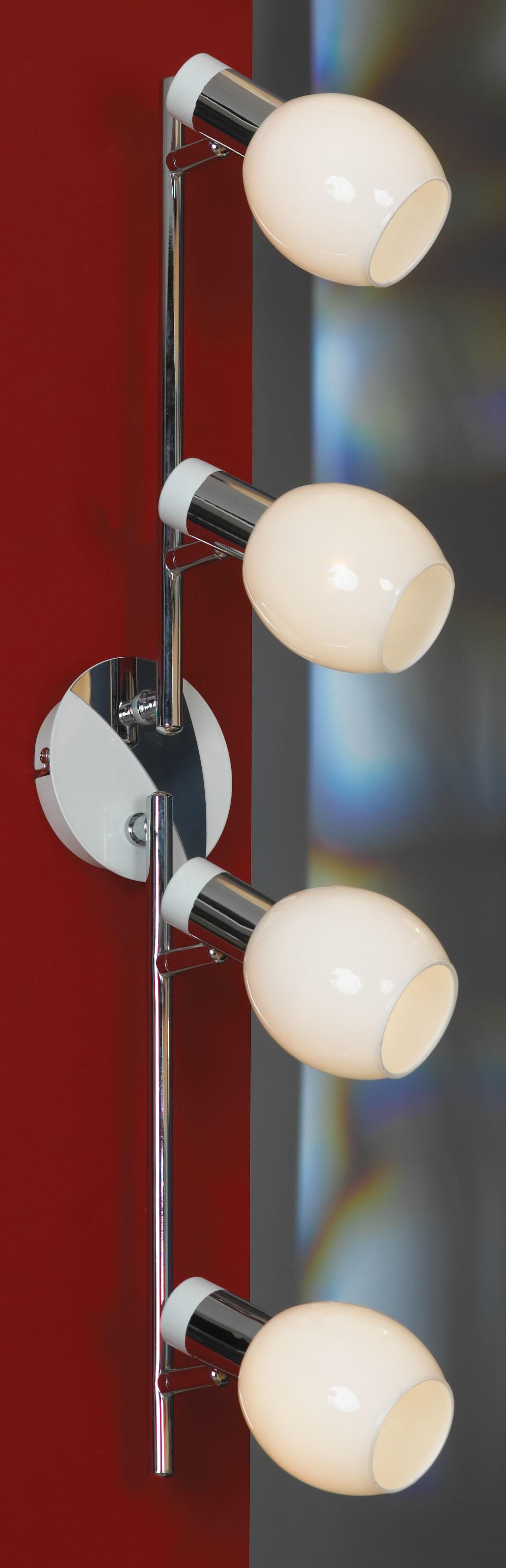 Потолочный светильник с регулировкой направления света Lussole Loft Parma LSX-5009-04, IP21, 4xE14x40W, белый, хром, металл, стекло - фото 1