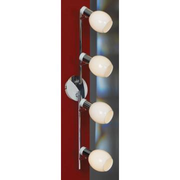 Потолочный светильник с регулировкой направления света Lussole Loft Parma LSX-5009-04, IP21, 4xE14x40W, белый, хром, металл, стекло - миниатюра 2